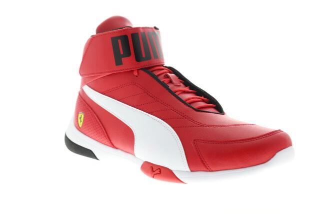 Details about NEW NIB Men's PUMA Ferrari Kart Cat III MID SF High Top Shoes Sneakers Ultra Red