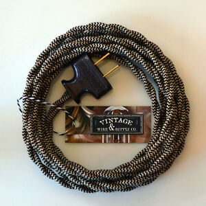 Riverbed Cotton Cloth Covered Wire Vintage Rewire Kit Lamp Cord ...