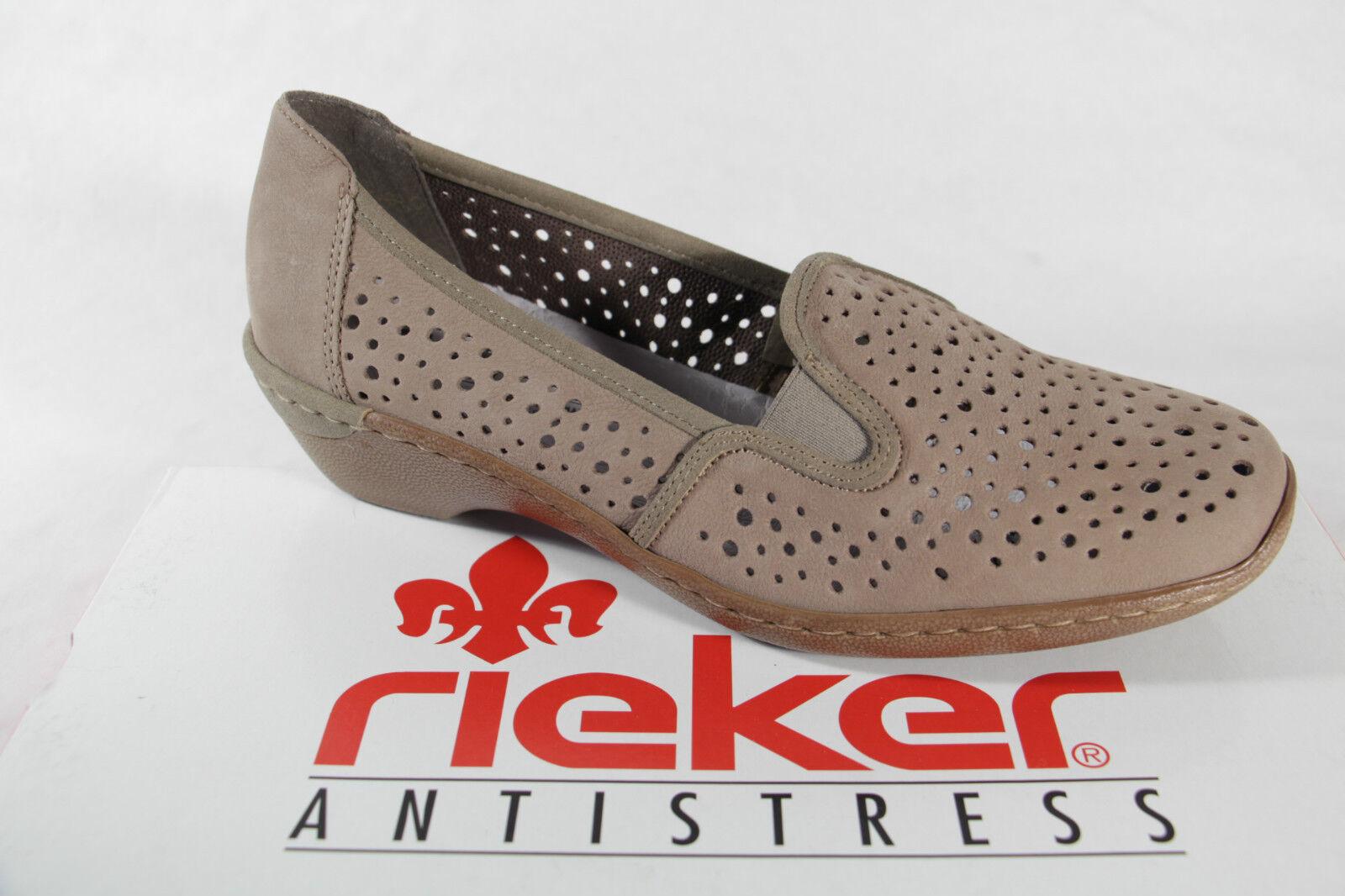 Rieker Zapatilla bajo Zapatos Cuero con Suave Suela Suela Suela Interior de Cuero,Beige  suministro de productos de calidad