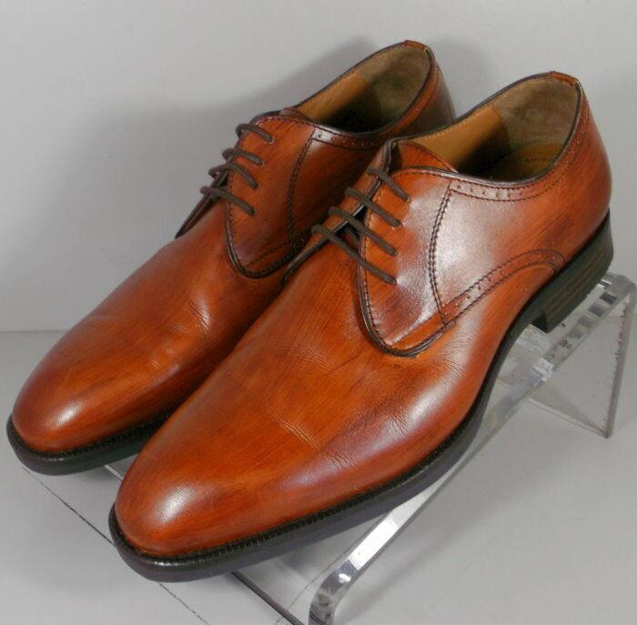 152663 FT50 Men's shoes Size 10.5 M Dark Tan Leather Lace Up Johnston Murphy