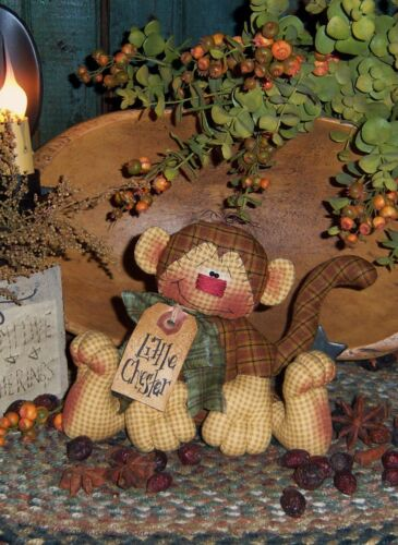 Primitive Patti/'s Ratties Chester Monkey Ornie Doll Paper Pattern #249