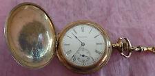Antique Turn of The Centrury  Waltham Gold Pocket Watch-15 Jewels 3498384 Works