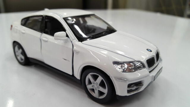 New 5 Kinsmart Bmw X6 Suv Cast Model Toy Car 1 38 White