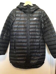 Polar Pesimista Calumnia  Nike ultraligero para mujer largo Luz acolchado abajo chaqueta de Abrigo  Parka Negro Talla Mediana M | eBay