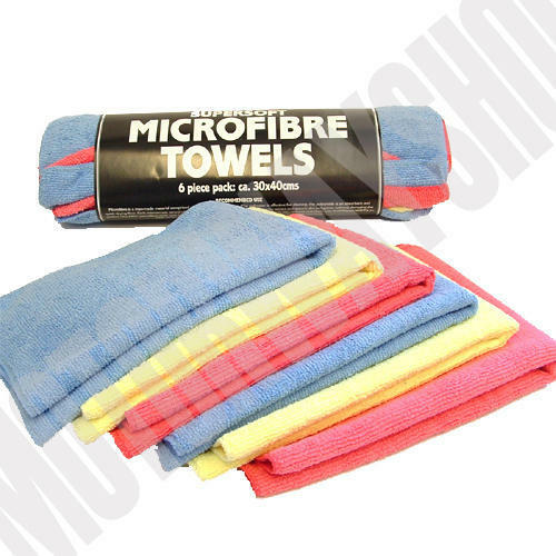 Microfibre Towel Bundle 6 Pack of Towels For Drying Polishing Waxing Ultra Soft