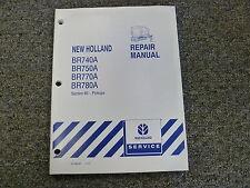 holland br740 br750 br770 br780 round baler operator manual ebay rh ebay com NH BR780 Round Baler new holland br780 parts manual