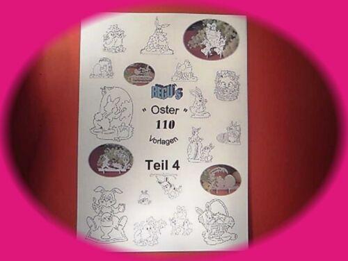 über 100  LAUBSÄGEVORLAGEN für  OSTERN - Buch - TEIL 4 - Figuren zum aussägen