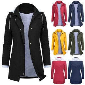 Women-Rain-Jacket-Outdoor-Plus-Size-Waterproof-Hooded-Raincoat-Windproof-Coat