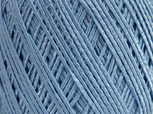 Ice 48844 Sky Shine Skinny Fine Light Blue Ribbon Yarn 50 gr 103yd Soft!