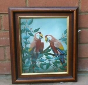 ORIGINAL-GUY-PERLMAN-MACAWS-PARROTS-OIL-PAINTING