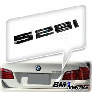 BLACK REAR BOOT 528i NUMBER EMBLEM BADGE FOR BMW 5 SERIES E60 E61 F10 F11 F07 M