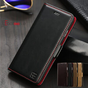 handy tasche leder f r iphone 8 x 6s 7 plus flip cover. Black Bedroom Furniture Sets. Home Design Ideas
