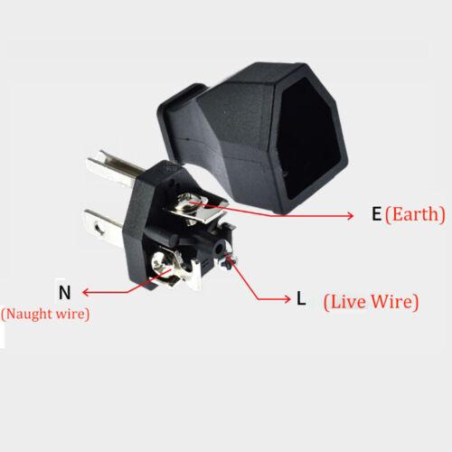 AC125V 15A North American USA Canada Rewireable Detachable Main  Power Plug