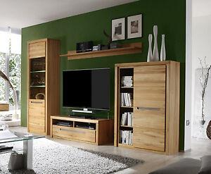 Das Bild Wird Geladen Wohnzimmer Moebel Wohnwand Kern Buche Massiv Mit LED