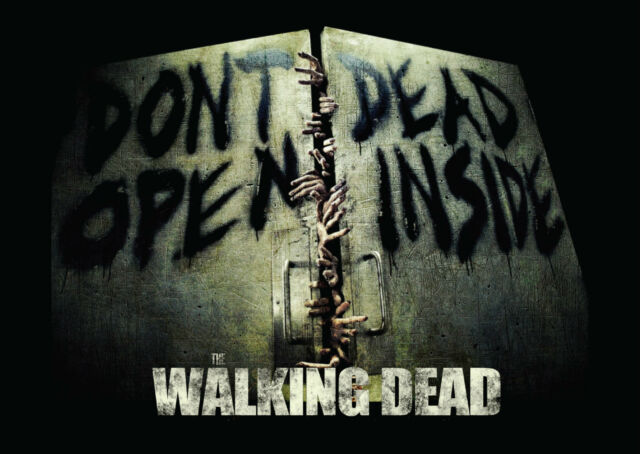 The Walking Dead Dont Open Giant Poster - A0 A1 A2 A3 A4 Sizes