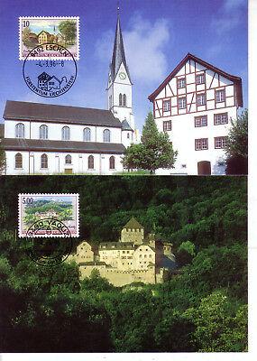 europa:15530 Hell Liechtenstein Mk 139 Michelnummer 1126-1127 Fein Verarbeitet