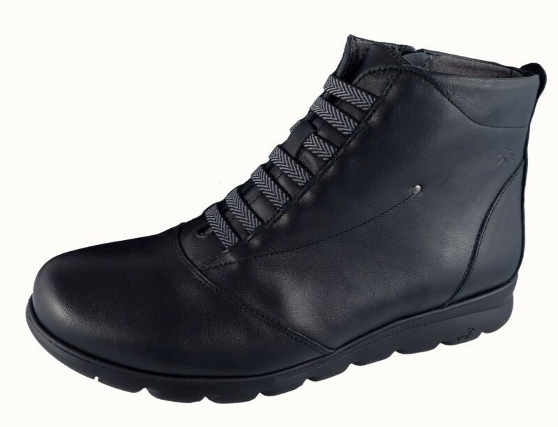 Zapatos Mujer / Womens Shoes Botines Fluchos Negro / Black Piel Susan Ref.f0356