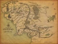 LORD OF THE RINGS MIDDLE EARTH WORLD POSTER PRINT WALL ART A4/A3 SIZES LORM01