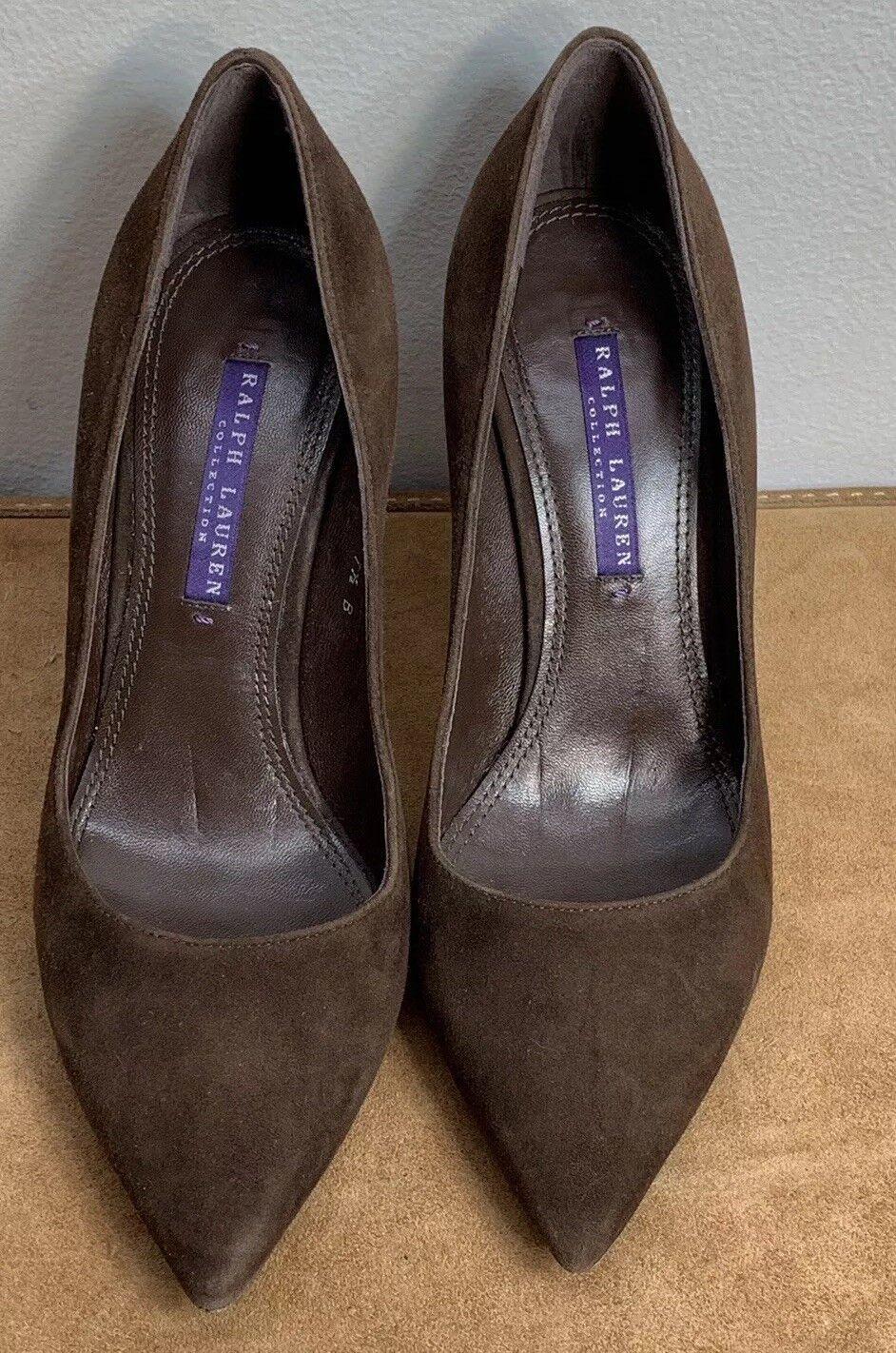 in vendita online Ralph Lauren viola Label Pump Heels donna's 7.5 US US US 37.5 EUMade In   nuovi prodotti novità