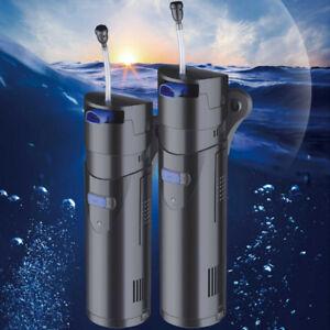 700l/h 4en 1 Aquarium Uv Stérilisateur Lampe Pompe Filtre Pompes Submersibles Hc