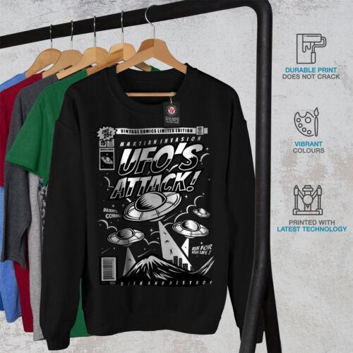 UFO Alien Attack MEN Sweat-shirt Newwellcoda