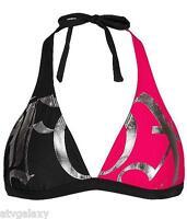 Fox Racing Late Gear Pink Black Bikini Top Swim Halter Suit 53375-001 Xs S Sale