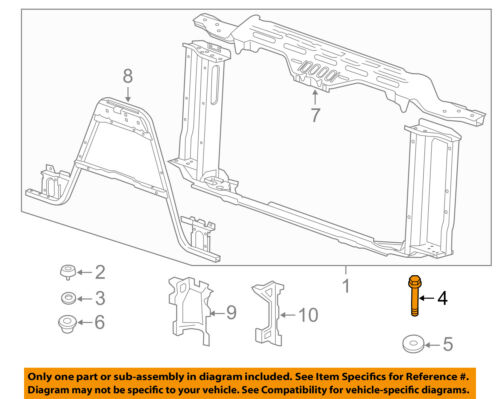 GM OEM-Radiator Core Support Mount Bolt 11562547