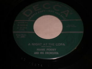 Hank-Penny-And-His-Orchestra-A-Night-At-The-Copa-Fool-039-s-Lament-45