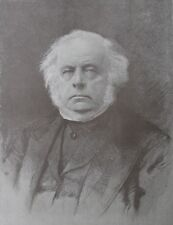 1888 Large Engraving - John Bright, M.P. - British Radical & Liberal Statesman