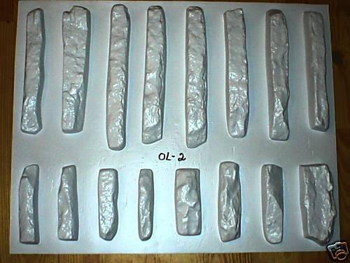ODL-02 - 16 CONCRETE LEDGESTONE MOLDS TO MAKE 1000s OF STONE VENEER WALL STONES