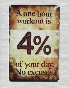 58ba33100 US Seller- decals One hour workout is 4% of your day. No excuses tin ...