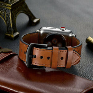 Genuine Leather Band Strap For Apple Watch Series 6/5/4/3/2/1/SE 44/42/40/38mm