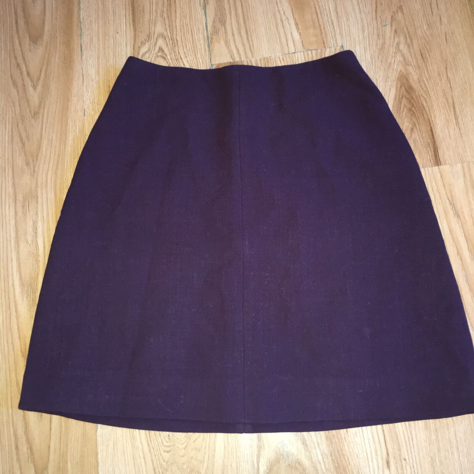 Carven Burgundy Plum Purple Wool Mini Skirt FR 38,