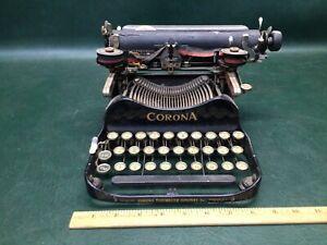 Antique Corona No. 3 Folding Typewriter Pat. July 10, 1917 ~ For Repair or Parts