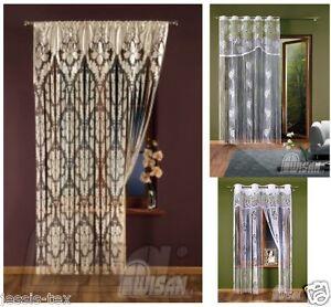 gardinen vorh nge schiebegardine faden gardine gardinen faden gardine vorhang ebay. Black Bedroom Furniture Sets. Home Design Ideas