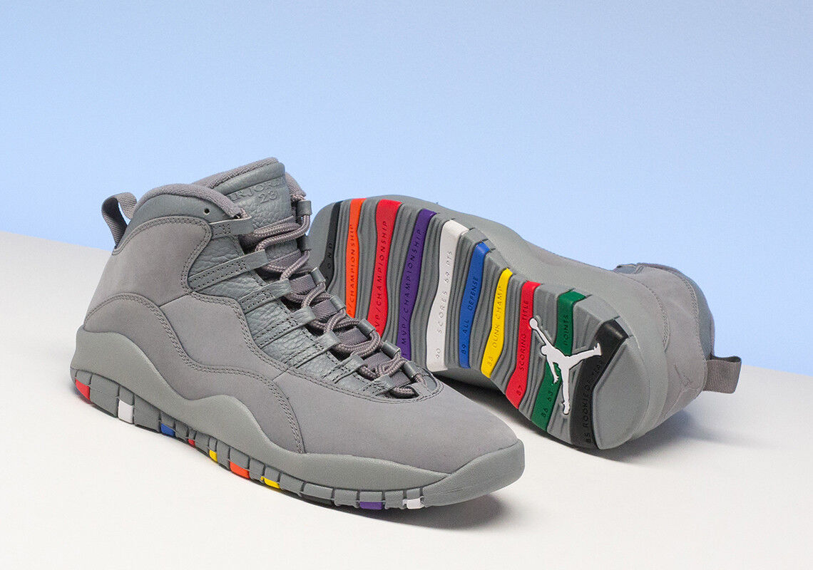 Nike Air Jordan 10 Retro COOL GREY MULTI COLOR 6 CHAMPIONSHIP 310805-022 Price reduction The latest discount shoes for men and women