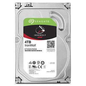 "Seagate IronWolf 4 TB Internal 5900 RPM 3.5"" Hard Drive -ST4000VN008 NAS (Network Attached Storage)"