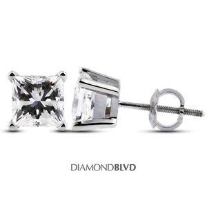 1-19-CT-E-VS1-VG-Princess-Earth-Mined-Diamonds-14KW-4-Prong-Basket-Earrings-1-1g