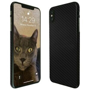 """big sale 3db7a 11174 Details about Skinomi Black Carbon Fiber Skin+Screen Protector For Apple  iPhone XS Max (6.5"""")"""