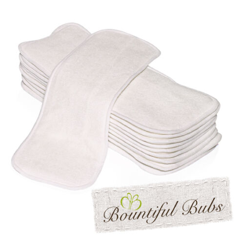 Bamboo Nappy Inserts, Newborn Boosters, 4 Layers x 10, 1Bm x 3 Mf Bountiful Bubs