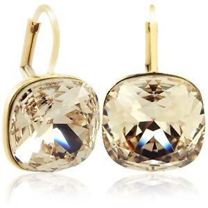 ohrringe mit kristalle von swarovski gold silk nobel schmuck ebay. Black Bedroom Furniture Sets. Home Design Ideas