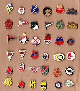vtg dutch football club logo pin badge 1960s acb ado den
