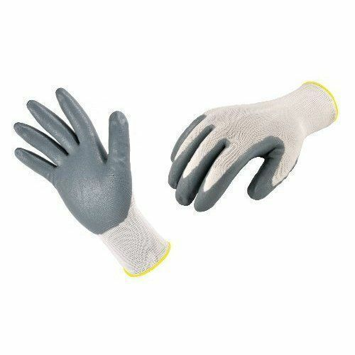5 x Pairs Grey NITRILE Palm Coated Nylon Work Glove  hand protection Scaffolding