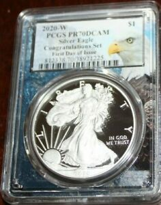 2020-W-PCGS-PR70-DCAM-ASE-Congratulations-First-Day-of-Issue-Bald-Eagle-Core