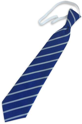 Child/'s Elastic Single Stripe School Ties Infant Primary Size Royal Blue /& White