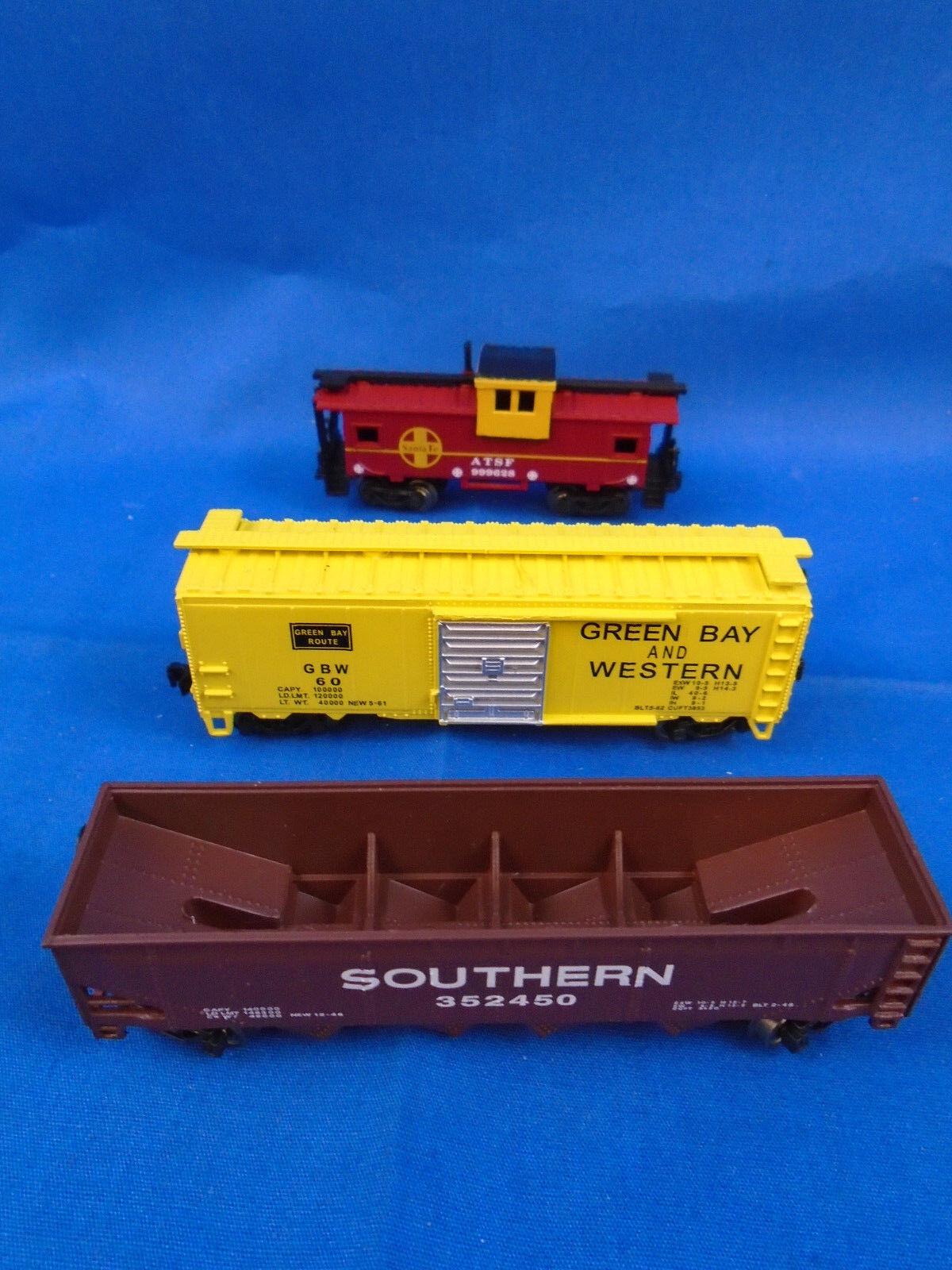 Bachmann N-Scale The Yard Boss Boxcar, Coal Car & Caboose - 3 Cars Total
