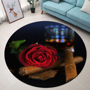 Details About Non Slip Area Rugs Red Rose Dark Night Love Living Room Carpet Bedroom Floor Mat