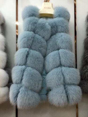 Neu Echt Fuchs Pelzweste Frauen Lange Vest Winter Warm Mantel Gute Qualität41431