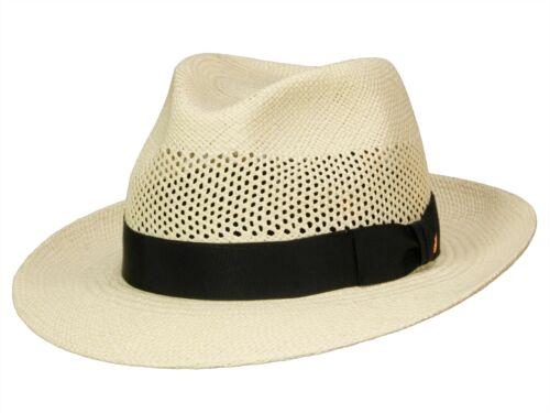 Cappello Panama in paglia herrenhut Cabinet intrecciato a mano ORIGINALE Mayser IMPERIA