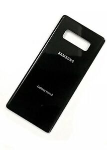 brand new 8d59d 02803 Details about OEM Samsung Galaxy Note 8 Original Replace Battery Door Glass  Back Cover - Black